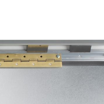 LKW-Klapprahmen, 42 mm Safety Profil, silber eloxiert, Gehrungsecken