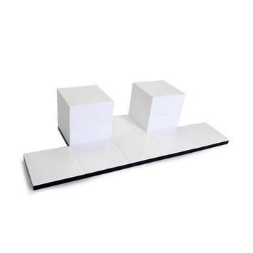"""EasyCubes Set """"Präsentationstreppe auf 2 Ebenen"""""""