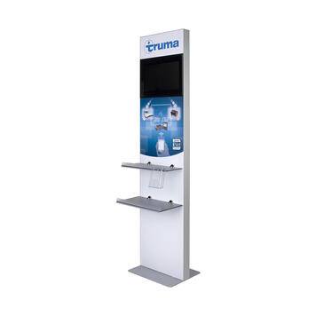 Infostele / Monitorgestell mit Digitaldruck