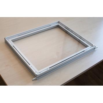 Erweiterung für Trennwand aus Aluminium Stretchframe