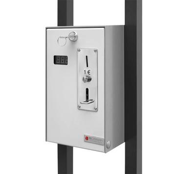 Heizstrahler mit Münzautomat für Absperrständer