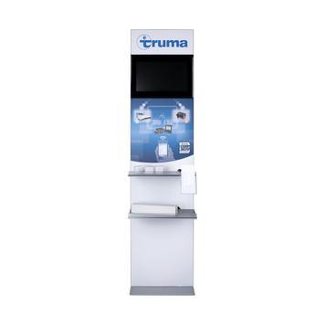 Infostele / Monitorgestell mit Digitaldruck