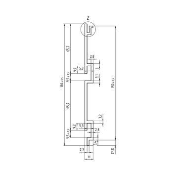 Lamellenwand FlexiSlot®-Profil